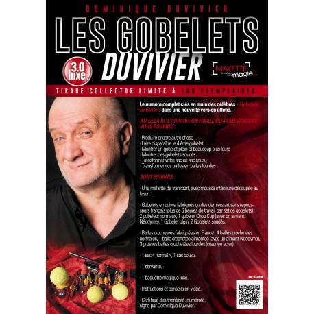 """Gobelets Duvivier 3.0 """"de luxe"""""""